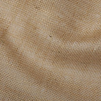 Remnant -Natural Hessian Fabric 150cm Wide - 150cm x 150cm - Roll End/Creased