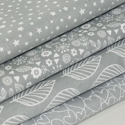 Fat Quarter Bundle: Makower Essentials Pewter, 4  Fabrics