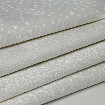 Fat Quarter Bundle: Makower Essentials White, 4  Fabrics