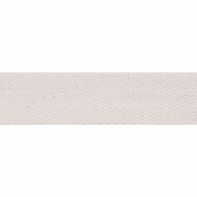 Cotton Herringbone Webbing Tape - 25mm Wide - Natural
