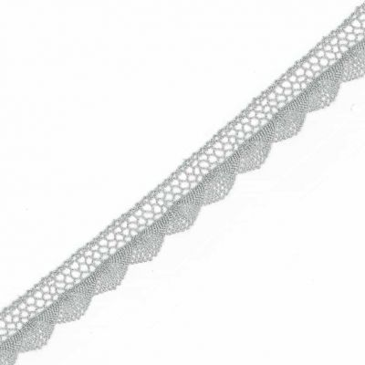 Metallic Barmen Lace Trim 20mm Wide - Light Silver