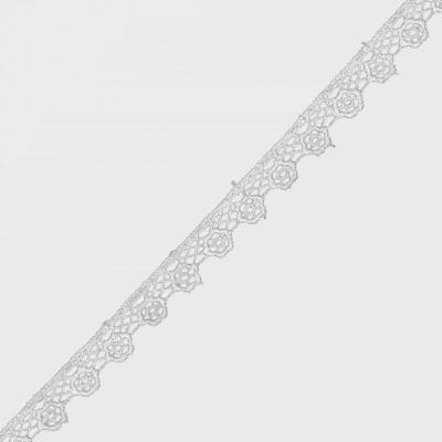 Guipure Floral Lace Trim 10mm Wide - White