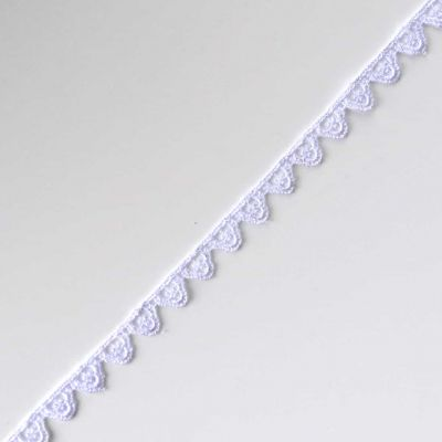 Guipure Clover Lace Trim 10mm Wide - White