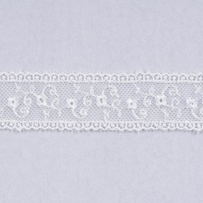 Embroidered Tulle Lace Trim 25mm Wide - Cream