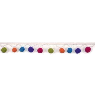 30mm Pom Pom Trim Multicoloured