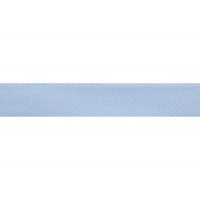 Cotton Herringbone Webbing Tape - 20mm Wide - Light Blue