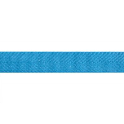 Cotton Herringbone Webbing Tape - 20mm Wide - Mid Blue