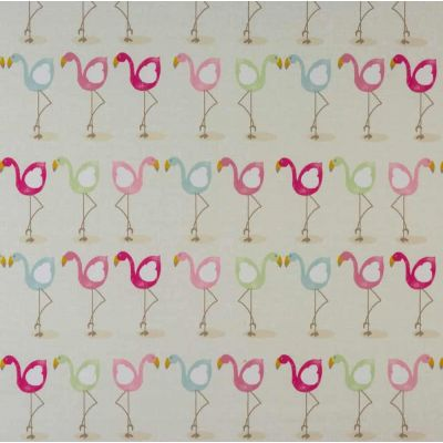 Flamingo - Multi - Curtain Fabric