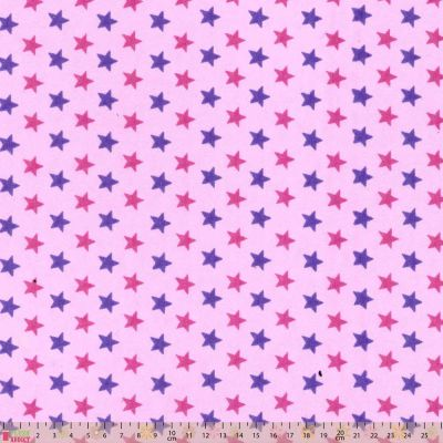 Cotton Wynciette - Stars On Pink