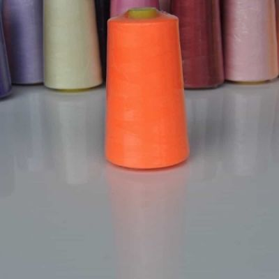 Fluorescent Orange Overlocker Thread