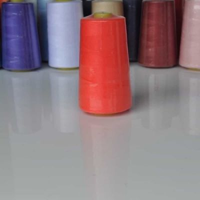 Fluorescent Red Overlocker Thread