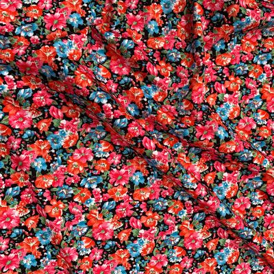 Plush Addict Floral Print Patterned PUL Fabric (Polyurethane Laminate fabric) - Waterproof Breathable Fabric