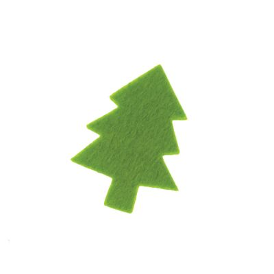Felt Festive Tree Motif - Pack of 4
