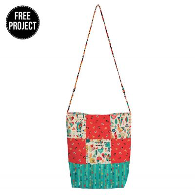 Makower Folk Friends - Shoppers Tote Bag - Free Instant Download