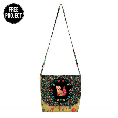 Makower - Folk Friends - Messenger Bag Free Project - Instant Download