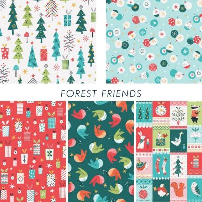 Dashwood Studio  - Forest Friends - Fat Quarter Bundle - 5 Fabrics