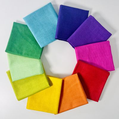 Fat Quarter Bundle: Makower Linen Texture Brights, 10 Fabrics