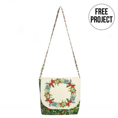 Makower - Yuletide - Messenger Bag Free Project - Instant Download