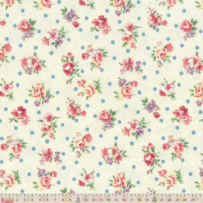 Fabric Freedom All Over Floral Cream Cut Length