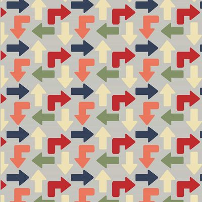 Fabric Freedom Zoom Arrows Multi Grey Cut Length