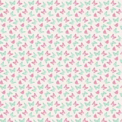 Fabric Freedom Birds And Butterflies Butterflies Pink Cut Length