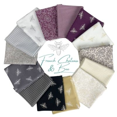 Andover - French Chateau And Bee - Fat Quarter Bundle - 11 Fabrics