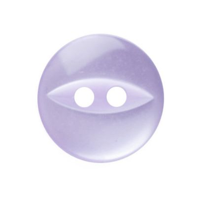Round Fish Eye Button 2 Hole - Lilac - 11mm / 18L