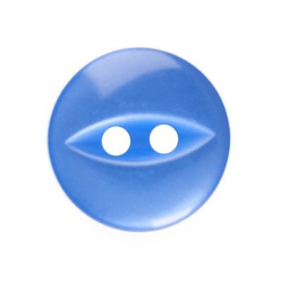 Round Fish Eye Button 2 Hole - Royal Blue - 11mm / 18L