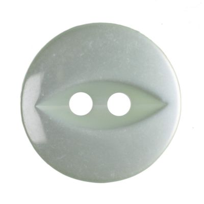Round Fish Eye Button 2 Hole - Pale Teal - 14mm / 22L