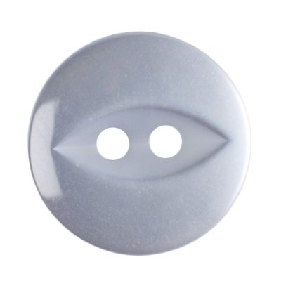 Round Fish Eye Button 2 Hole - Clear - 14mm / 22L