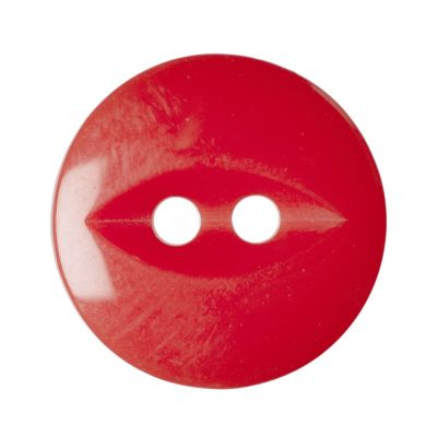 Round Fish Eye Button 2 Hole - Cherry - 14mm / 22L