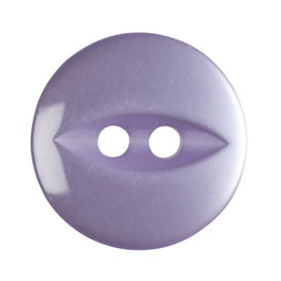 Round Fish Eye Button 2 Hole - Lilac - 14mm / 22L