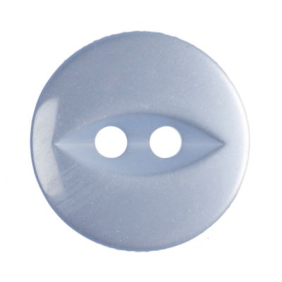 Round Fish Eye Button 2 Hole - Light Blue - 14mm / 22L