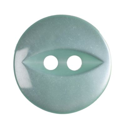 Round Fish Eye Button 2 Hole - Turquoise - 14mm / 22L