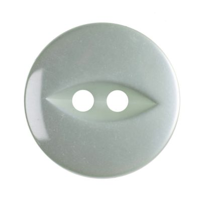Round Fish Eye Button 2 Hole - Pale Teal - 16mm / 26L