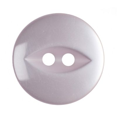 Round Fish Eye Button 2 Hole - Pale Pink - 16mm / 26L