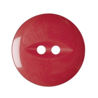 Round Fish Eye Button 2 Hole - Cherry - 19mm / 30L