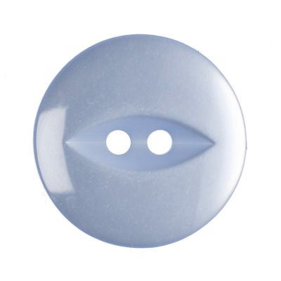 Round Fish Eye Button 2 Hole - Light Blue - 19mm / 30L