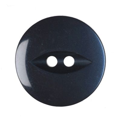 Round Fish Eye Button 2 Hole - Navy - 19mm / 30L