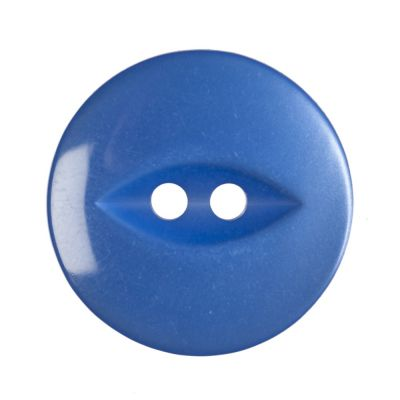 Round Fish Eye Button 2 Hole - Royal Blue - 19mm / 30L