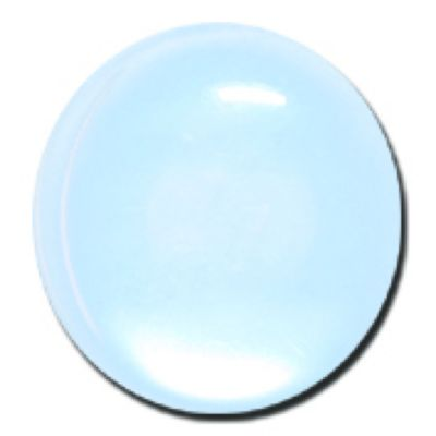 Round Polyester Shank Button - Pale Blue - 15mm / 24L