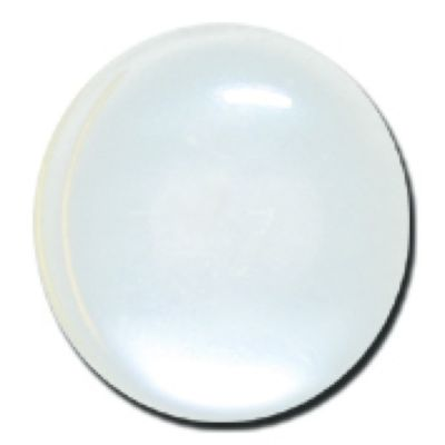 Round Polyester Shank Button - White - 18mm / 28L