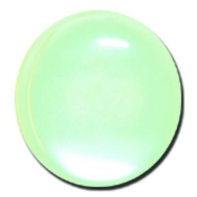 Round Polyester Shank Button - Pale Green - 15mm / 24L