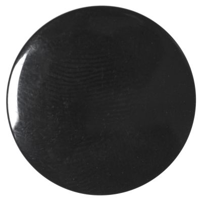 Round Polyester Shank Button - Black - 18mm / 28L