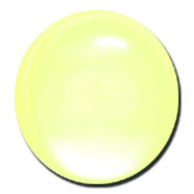 Round Polyester Shank Button - Yellow - 15mm / 24L