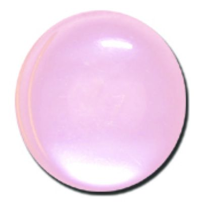 Round Polyester Shank Button - Pink - 15mm / 24L