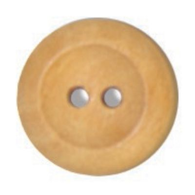 Round Olive Wood 2 Hole Button 15mm