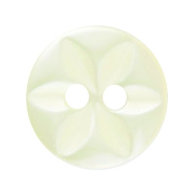 Round Polyester Yellow Star Button 2 Hole 11mm