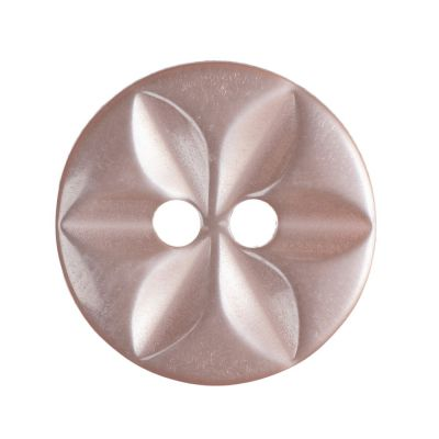 Round Polyester Pink Star Button 2 Hole 14mm