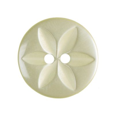 Round Polyester Yellow Star Button 2 Hole 16mm